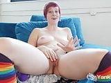 Redhead Yanks Aurora Odaire Masturbating