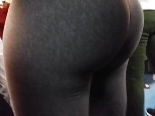 Huge ass, tight leggings, candid, hot butt, hard booty