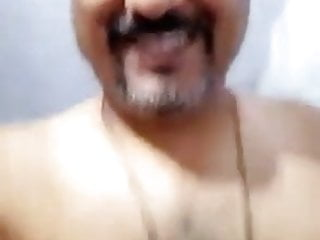 Muscle indian daddy full body show uncut dick...