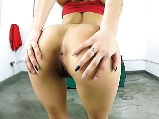PERFECT ASS Young TEEN With Small Perky Tits n Shaved Pussy