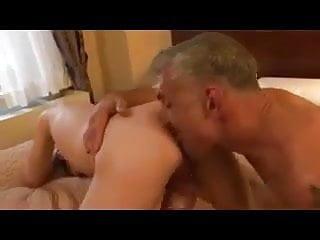 Dad old businessman rim finger ass...