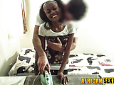 My black maid thinks getting drilled is her fav ch
