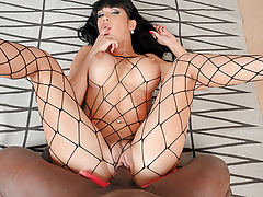 BBC Rips Valentina's Pussy and Fishnets
