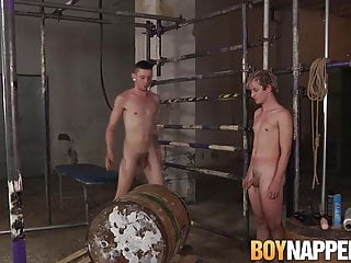 Twink gives blowjob after being bdsm master...