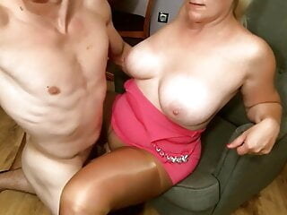 Cock Slides Easily into Wet Pussy