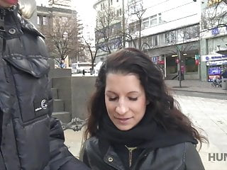 Cameraman fucks comely brunette next to her grumpy...