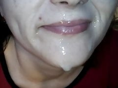 Blowjob Finished With Spunk On Lips