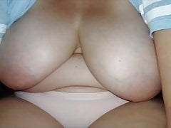 Busty Girlfriend shows her big natural boobs