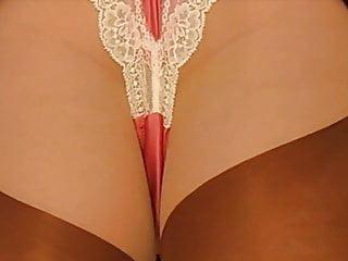 Suede Miniskirt Nylon Stockings