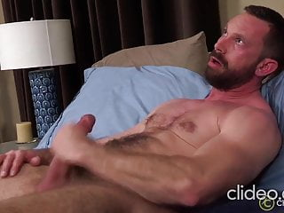 Sexy handsome daddy Cliff solo jerk off & cum DILF