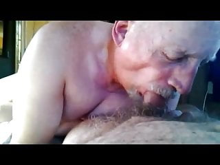 Grandpa really enjoy sucking cock...