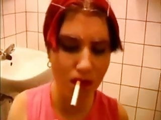 German redhead do the slut in toilets
