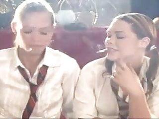 Maddie & Nadja Smoking Schoolgirls full size! Simply wow! !