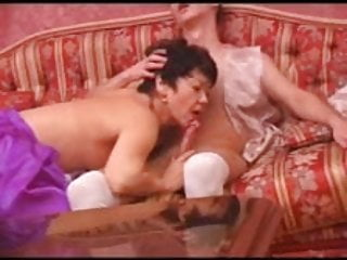 Hot Asian MILF Takes on Russian Dick Part 1
