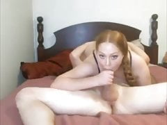 Sexy Long Haired Redhead Hardcore, Braids, Blowjob, Creampie