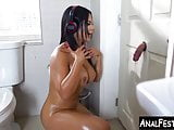 Massive booty Latina bounces on cock after glory hole suck