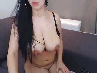 tits finger asshole with rubs with brunette Hot giant