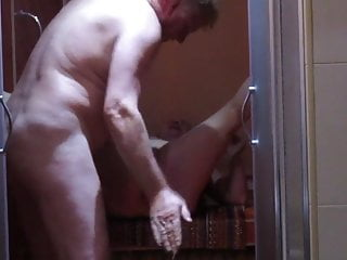 Gets fingered and fucked in shower...