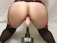 Milf Squirts With Fuck Machine