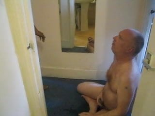 Asian guy pissing on white daddy...