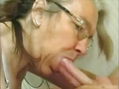 hot granny with glasses suck cock and get facialfree full porn
