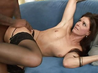 German stocking milf gets fucked hard by a black monstercock