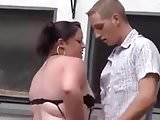 german with small tits fucked outdoors