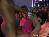 Pretty babe blows and fucks hard with a muscular stripper