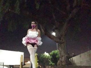 Sissy Amber public faggot Star in prancing