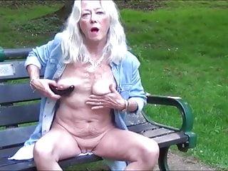 Skinny hot and masturbating outdoor...