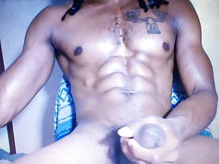 Huge cum shot busts a nut black horse cock cumming