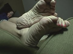 88.  Cannot deny worshipping her feet