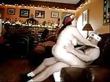 On Happy Fat Couple Having Sex on Christmas!