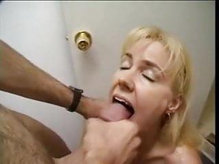 Blonde mature gets his cum...