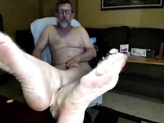 Daddy showing cock and feet