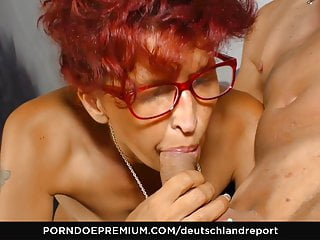 DEUTSCHLAND REPORT - German mature redhead sucks big dick