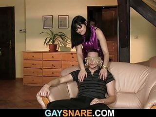 She snares him...