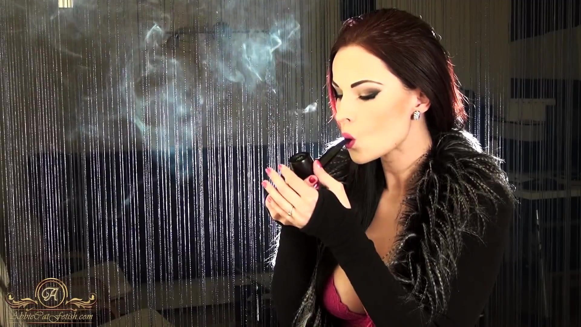 Smoking Blow Job Brunette