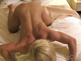 Muscular blonde tits...