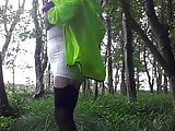 Granny tranny in the woods