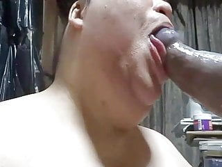 Fat Japanese gay Shino blows big cock with ahegao