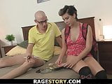 European shaved pussy girl takes rough punishment
