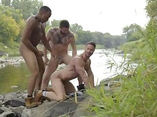 Threesome in the Nature