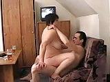 Rus mom watching tv