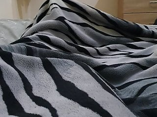 Juicy muslim has with boyfriend under blanket...