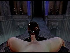 Citor3 Femdomination 2 3D VR game walkthrough 5: Collar