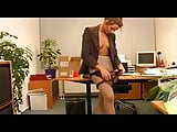German Secretary Indulges Her Bosses Pantyhose Sex