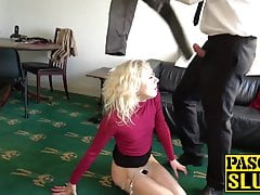 Petite UK teen April Paisley roughly fucked by Pascal White