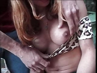 Tranny knees gives massive blowjob to guys...