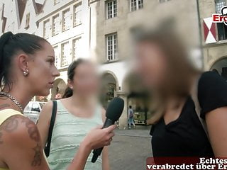 EroCom Casting for german 1st time Sex orgy with digicam